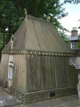 Side view of Richard Burton's tomb, St Mary Magdalen, Mortlake.